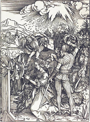 Drawing - The Martyrdom Of Saint Catherine by Albrecht Durer
