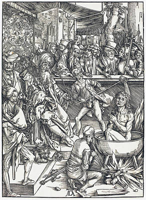 Drawing - The Martyrdom Of Saint John by Albrecht Durer