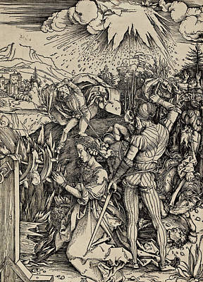 The Martyrdom Of St. Catherine Of Alexandria Art Print by Albrecht Durer