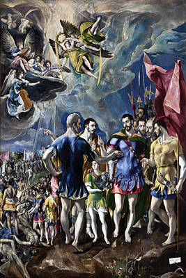 Maurice Painting - The Martyrdom Of St Maurice by El Greco