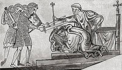 Thomas Becket Drawing - The Martyrdom Of St. Thomas Of by Vintage Design Pics