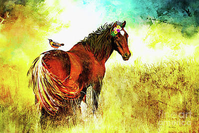 Digital Art - The Marvelous Mare by Tina LeCour