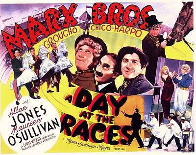Groucho Marx Mixed Media - The Marx Bros - A Day At The Races 1937 by Mountain Dreams