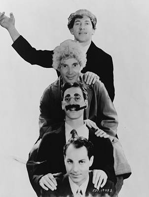 Groucho Marx Photograph - The Marx Brothers  by Georgia Fowler