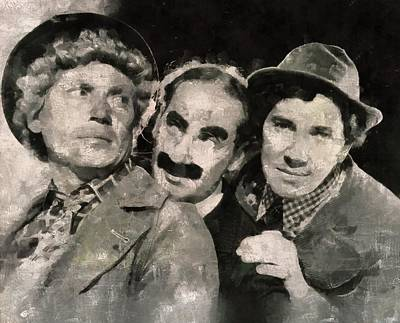 Elvis Presley Painting - The Marx Brothers by Mary Bassett