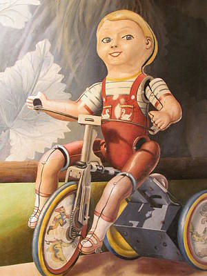 Painting - The Marx Cyclist by Adriaan Brolsma