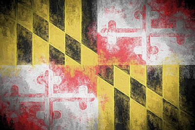Digital Art - The Maryland Flag by JC Findley