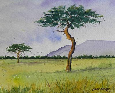 Masai Painting - The Masai Mara by Chuck Creasy