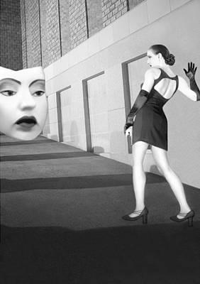 The Mask - Self Portrait Art Print by Jaeda DeWalt