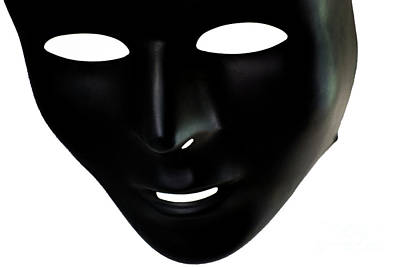 Emotionless Photograph - The Mask In Black And White by Reynaldo Brigantty