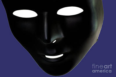 Emotionless Photograph - The Mask In Blue by Reynaldo Brigantty