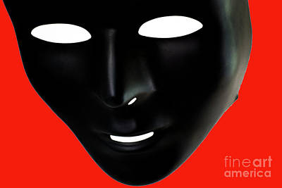 Emotionless Photograph - The Mask In Red by Reynaldo Brigantty