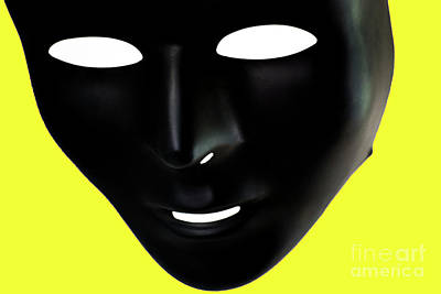 Emotionless Photograph - The Mask In Yellow by Reynaldo Brigantty