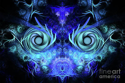 Abstract Digital Digital Art - The Mask by John Edwards