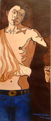 The Mask Man Art Print by Erminia Schirru