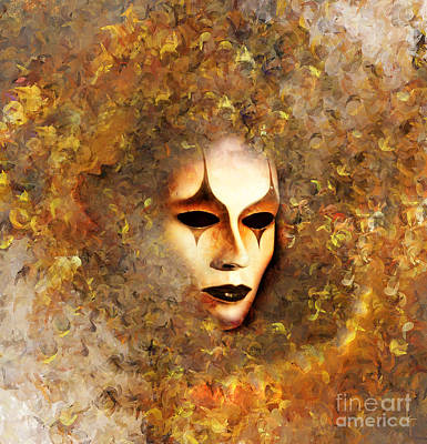 Emotion Mixed Media - The Mask by Jacky Gerritsen