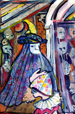 The Masks Of Venice Original by Mindy Newman