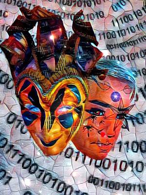 Digital Art - The Masks We Wear by Vennie Kocsis