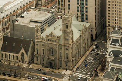 Photograph - The Masonic Temple In Philadelphia From Above by Bill Cannon