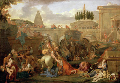 Battle Painting - The Massacre Of The Innocents by Charles Le Brun