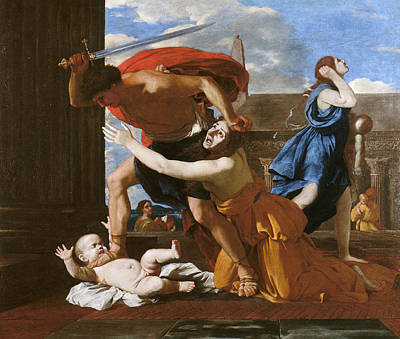 Religion Painting - The Massacre Of The Innocents by Nicolas Poussin