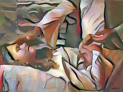 Painting - The Master's Hands - Healer by Wayne Pascall