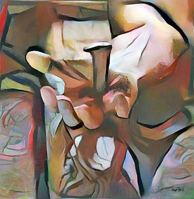 Painting - The Master's Hands - Savior by Wayne Pascall