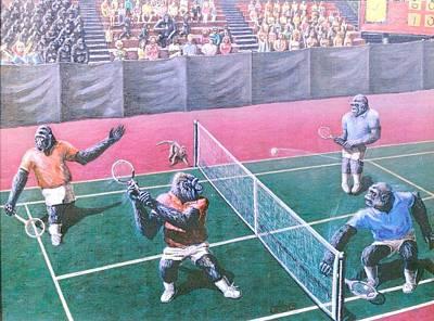 The Match Art Print by George I Perez