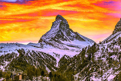 Photograph - The Matterhorn by PhotoWorks By Don Hoekwater