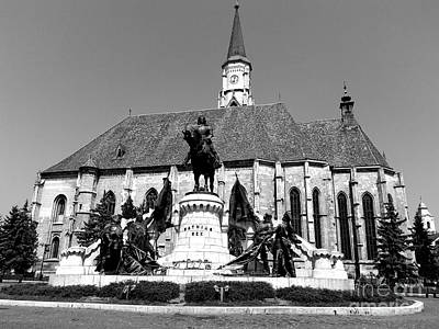 Photograph - The Matthias Corvinus Monument  by Erika H