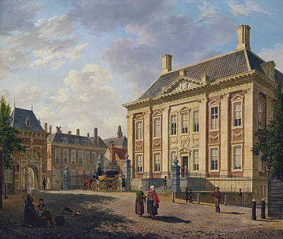 The Mauritshuis In The Hague Art Print by Bartholomeus van Hove