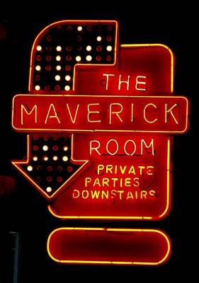 Photograph - The Maverick Room by Jeff Gater