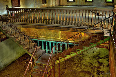 Reconstruction Photograph - The Maxeys Store Iron Stairway Art by Reid Callaway