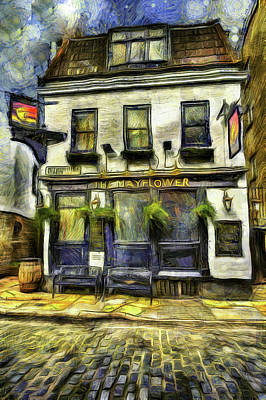 Photograph - The Mayflower Pub London Van Gogh by David Pyatt