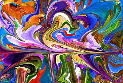 Digital Art - The Maze - Abstract by Michael Rucker