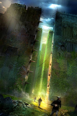 Books Painting - The Maze Runner by Philip Straub