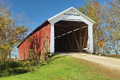 Photograph - The Mcallister Covered Bridge by Harold Rau