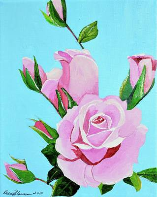 Painting - The Mccartney Rose by Donna Blossom