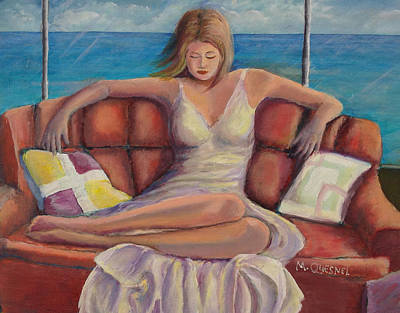 Contemplative Painting - The - Me - Time by Marcel Quesnel