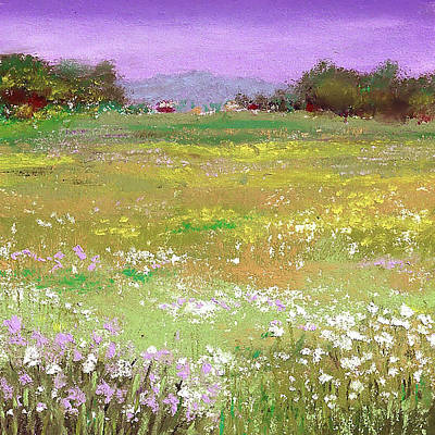 Pastels Painting - The Meadow by David Patterson