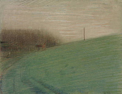 Pastel - The Meadow by Georges-Pierre Seurat