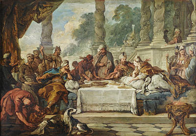 Esther Painting - The Meal Of Esther And Ahasuerus by Jean-Francois Detroy