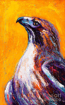 Red Tail Hawks Painting - The Meaning Maker by Rosemary Conroy