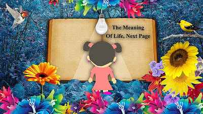 Little Girls Mixed Media - The Meaning Of Life Art by Marvin Blaine