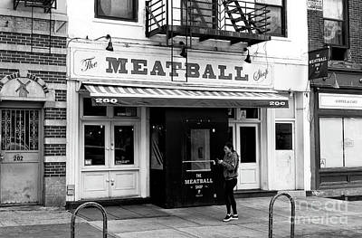 Photograph - The Meatball Shop by John Rizzuto