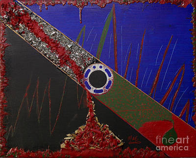 Human Sacrifice Art Painting - The Mechanization Of Greed by Rick Maxwell