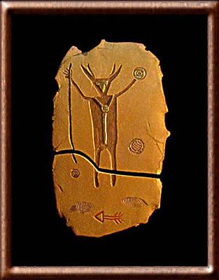 Ceramic Art - The Medicine Man by Judy  Hensley