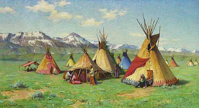 Painting - The Medicine Teepee by Joseph Henry Sharp