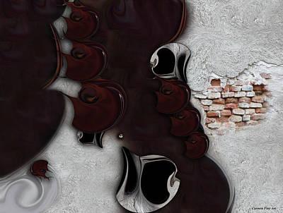 Digital Art - The Meditative Emotion by Carmen Fine Art