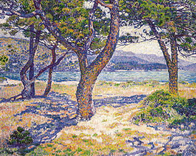 Painting - The Mediterranean At Le Lavandou by Theo Van Rysselberghe